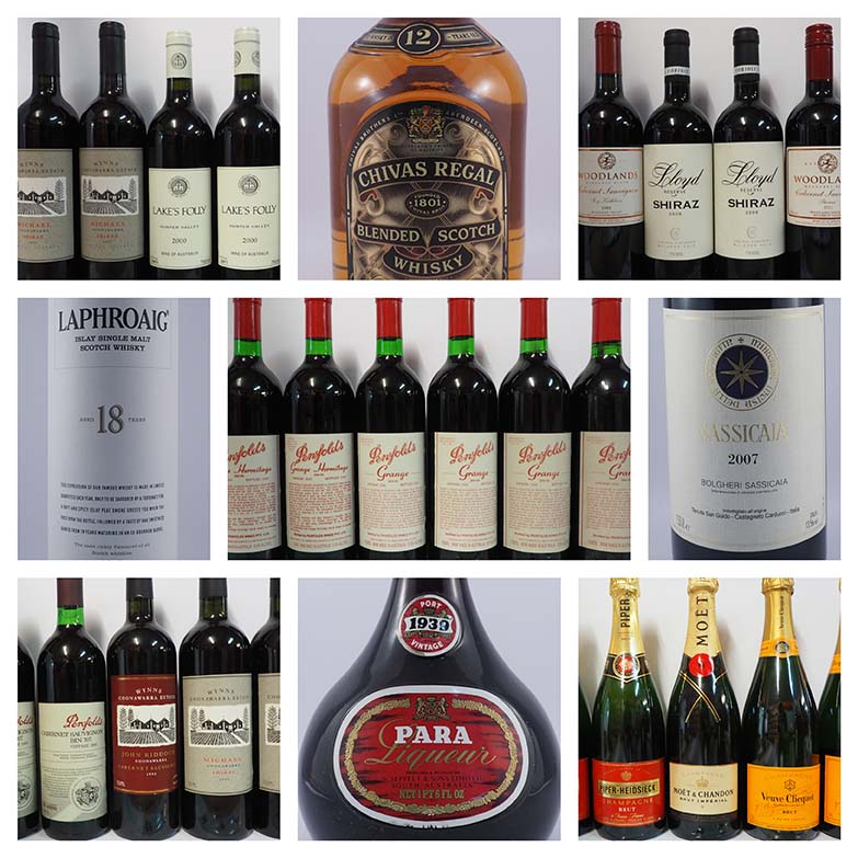 buying wine online at auction in Australia